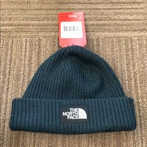 Blue north face beanie